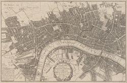 A pocket map of the citties of London, Westminster, & Southwark with the addition of the new buildings to this present year 1725